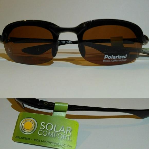 78ca422a3f0 Solar Comfort Half Rim Polarized Sport Sunglasses